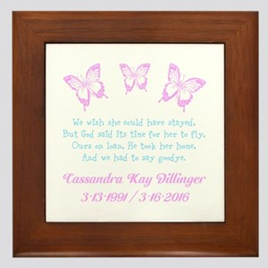 Personalize/Ours On Loan Framed Tile