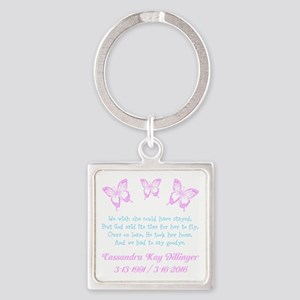 Personalize/Ours On Loan Square Keychain