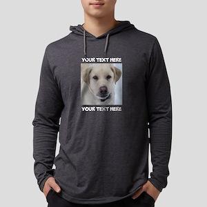 Dog Labrador Retriever Yellow Mens Hooded Shirt