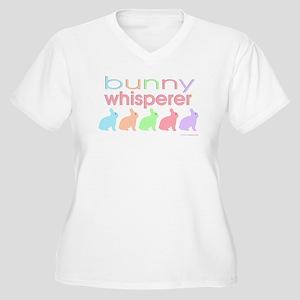 Bunny Whisperer Women's Plus Size V-Neck T-Shirt