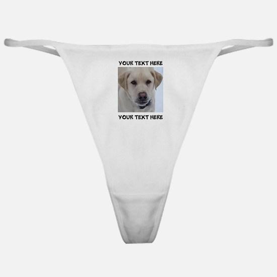 Dog Labrador Retriever Yellow Classic Thong