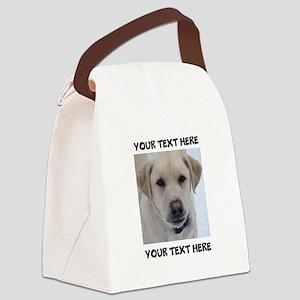 Dog Labrador Retriever Yellow Canvas Lunch Bag