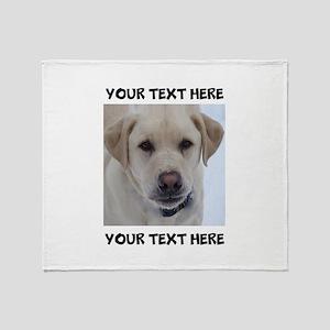 Dog Labrador Retriever Yellow Throw Blanket