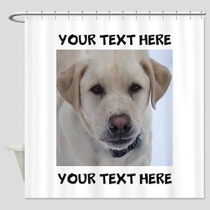 Dog Labrador Retriever Yellow Shower Curtain