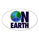 Peace on Earth Oval Sticker