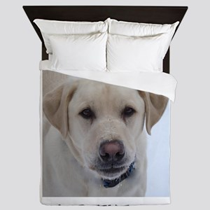 Dog Labrador Retriever Yellow Queen Duvet