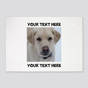 Dog Labrador Retriever Yellow 5'x7'Area Rug