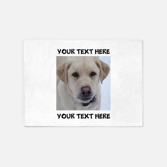 Dog Labrador Retriever Yellow 5'x7'Area Rug