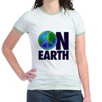 Peace on Earth Jr. Ringer T-shirt