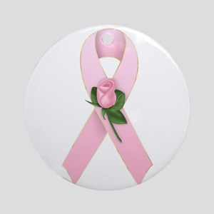 Breast Cancer Ribbon 2 Ornament (Round)