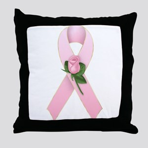Breast Cancer Ribbon 2 Throw Pillow