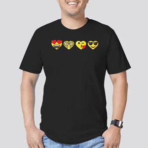 Emoji Love Faces Men's Fitted T-Shirt (dark)