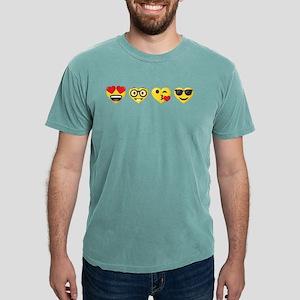 Emoji Love Faces Mens Comfort Colors Shirt
