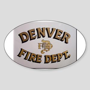 Denver Fire Department Sticker (Oval)