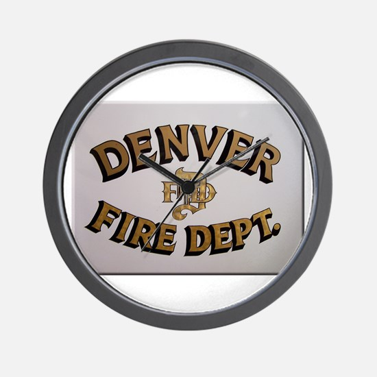 Denver Fire Department Wall Clock