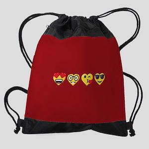Emoji Love Faces Drawstring Bag