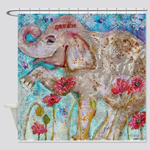 Elephant Dreams Shower Curtain