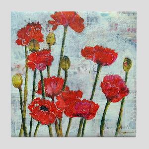 Poppy Spring Promise Tile Coaster