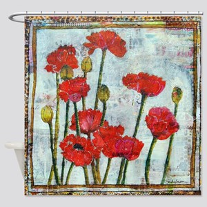 Poppy Spring Promise Shower Curtain