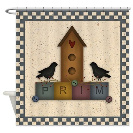 Prim Birdhouse Shower Curtain By Mousefx