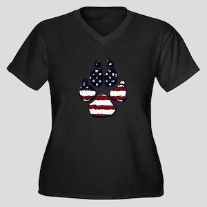 American Dog Plus Size T-Shirt