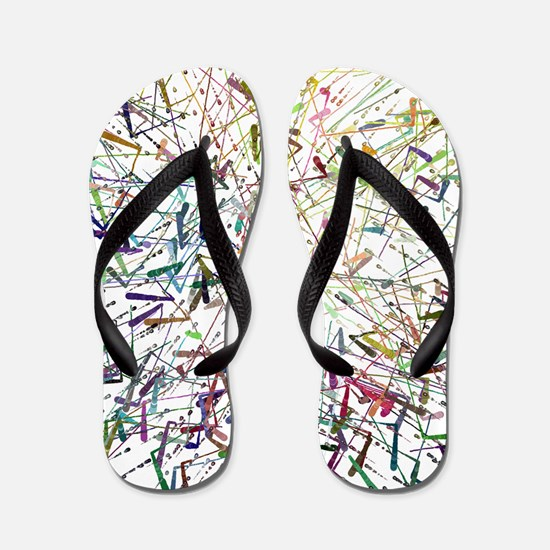 Abstract by Leslie Harlow Flip Flops
