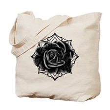 Black Rose On Gothic Tote Bag