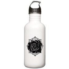 Black Rose On Gothic Water Bottle