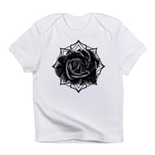 Black Rose On Gothic Infant T-Shirt