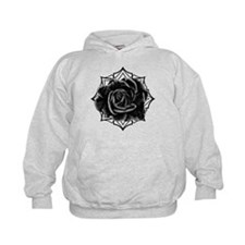 Black Rose On Gothic Hoodie