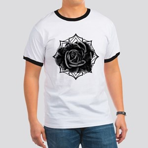 Black Rose On Gothic T-Shirt