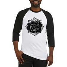 Black Rose On Gothic Baseball Jersey