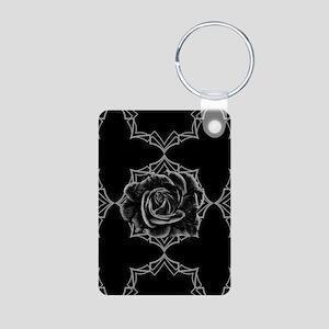 Black Rose On Gothic Keychains