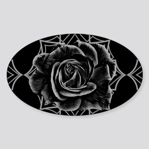 Black Rose On Gothic Sticker