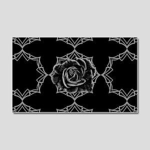Black Rose On Gothic Car Magnet 20 x 12