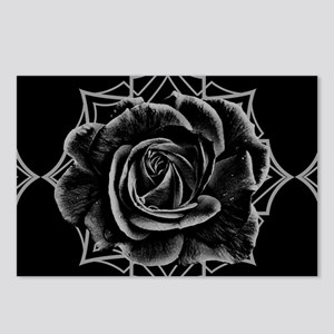 Black Rose On Gothic Postcards (Package of 8)