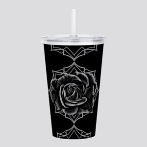Black Rose On Gothic Acrylic Double-wall Tumbler