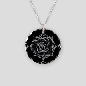 Black Rose On Gothic Necklace
