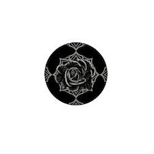 Black Rose On Gothic Mini Button