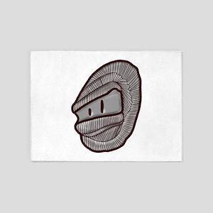 Masked face 5'x7'Area Rug