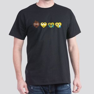 Emoji Anti-Love Faces Dark T-Shirt
