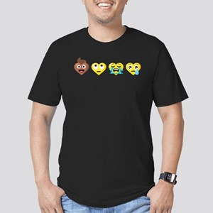 Emoji Anti-Love Faces Men's Fitted T-Shirt (dark)