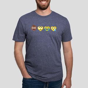 Emoji Anti-Love Faces Mens Tri-blend T-Shirt