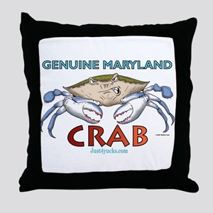 Genuine Maryland Crab Throw Pillow