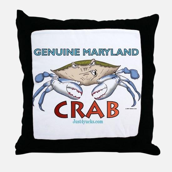 Genuine Maryland Crab Throw Pillow
