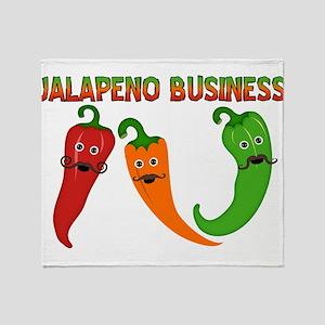Jalapeno Business Throw Blanket