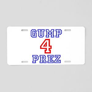 GUMP 4 PREZ Aluminum License Plate