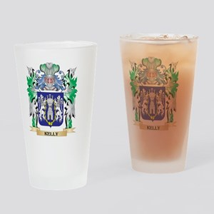 Kelly Coat of Arms - Family Crest Drinking Glass
