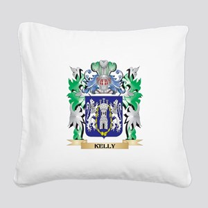 Kelly Coat of Arms - Family C Square Canvas Pillow