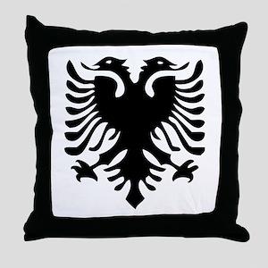 Albanian Eagle Throw Pillow